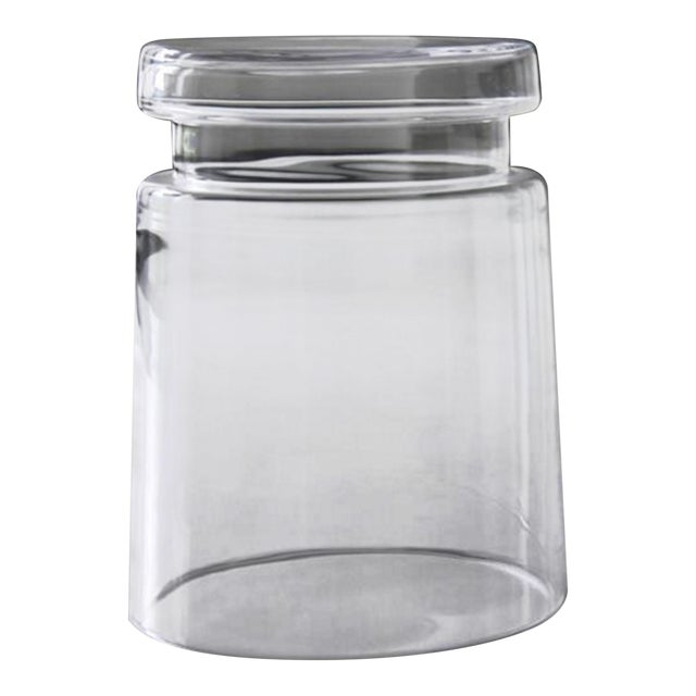 Modern Clear Glass Stool or Side Table For Sale