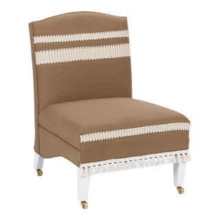 Casa Cosima Sintra Chair in Hazel Linen For Sale