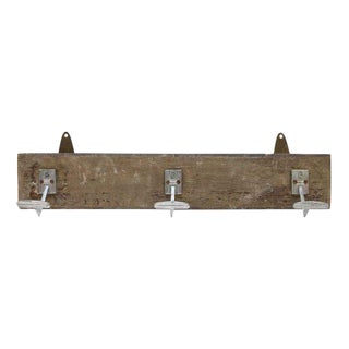 Three Hook Wooden Plank Rack For Sale