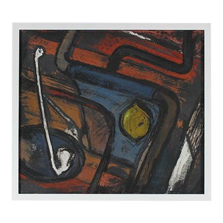 Mid Century Abstract Still Life Painting
