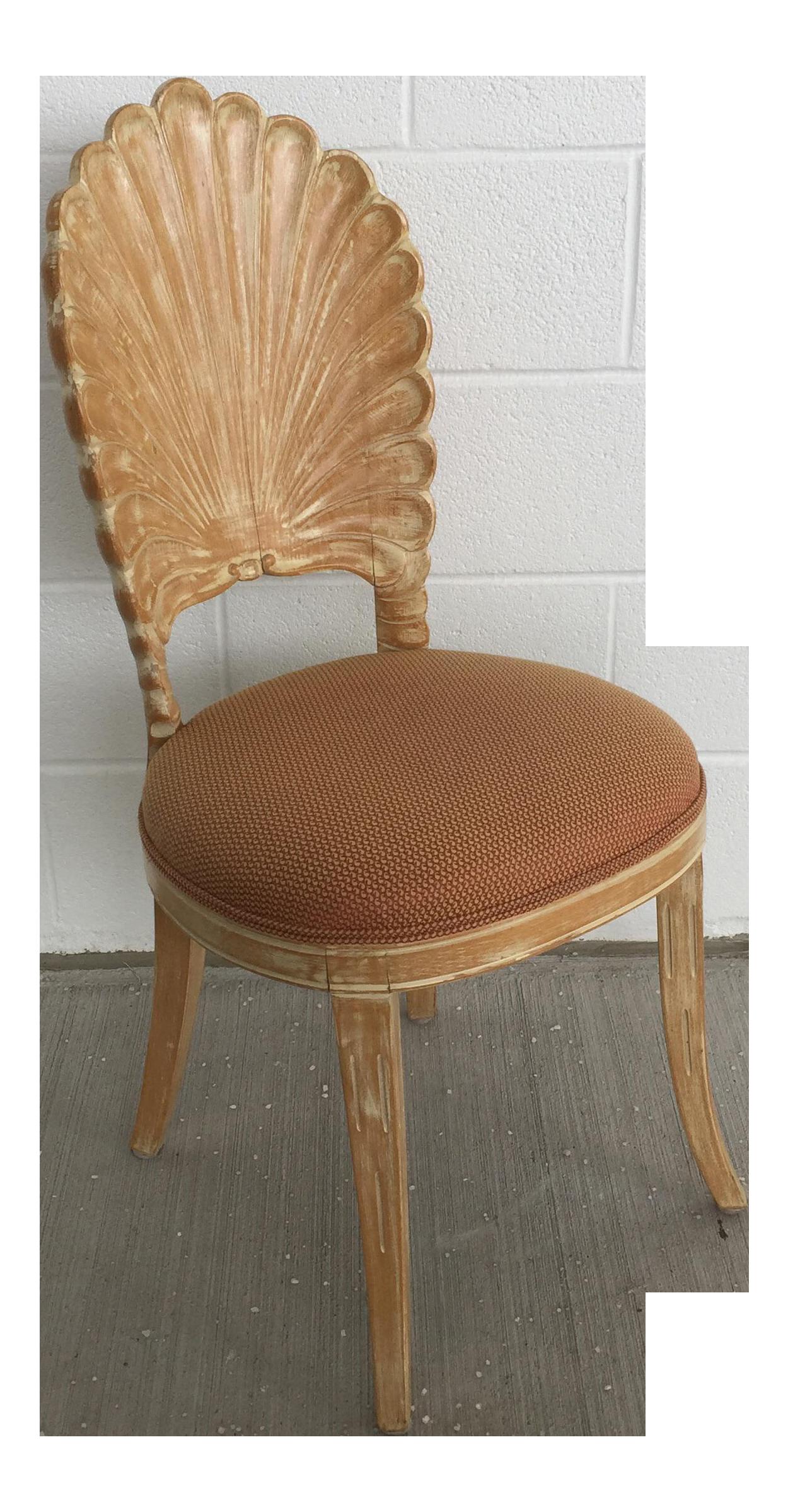 Italian Venetian Shell Grotto Vanity Desk Chair