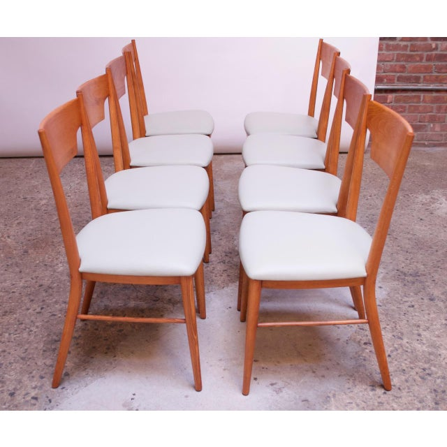 1950s Stained Maple Dining Chairs by Paul McCobb for Perimeter - Set of 8 For Sale - Image 5 of 13