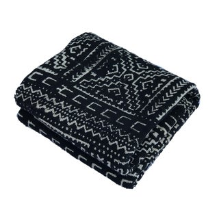 """African Bogolan Mud Cloth Textile 66 """" by 42"""" For Sale"""
