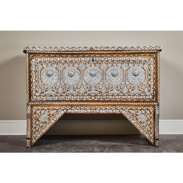 19th Century Syrian Inlaid Wedding Chest For Sale - Image 10 of 10