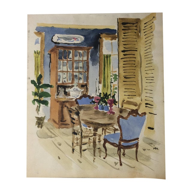 Watercolor Architectural Interior Rendering - Image 1 of 10