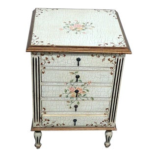 20th Century Louis XVI Style Paint Decorated Commode For Sale