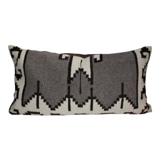 Mexican Indian Weaving Geometric Bolster Pillow For Sale