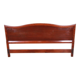Vintage Mahogany King Size Headboard For Sale