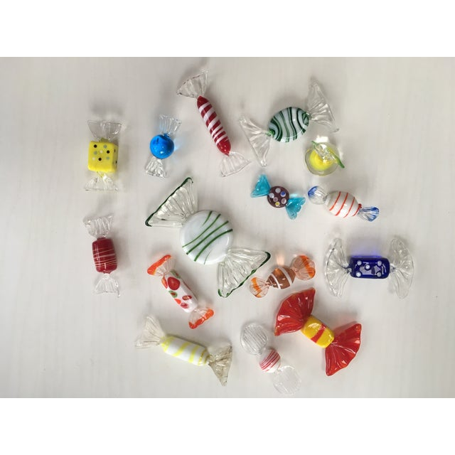 Glass Italian Glass Holiday Candy - Set of 15 For Sale - Image 7 of 7