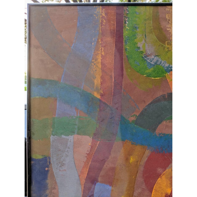 """81"""" Oversize Framed Oil on Canvas Abstract Painting For Sale - Image 9 of 13"""