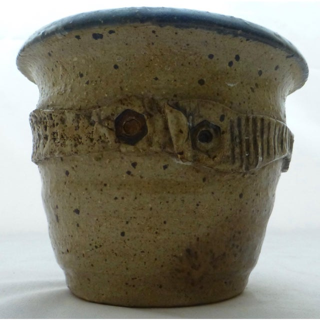 Mid Century Signed Studio Pottery Vase For Sale - Image 9 of 10
