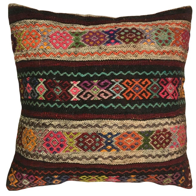 """Rug & Relic Carpet Pillow   24"""" For Sale"""