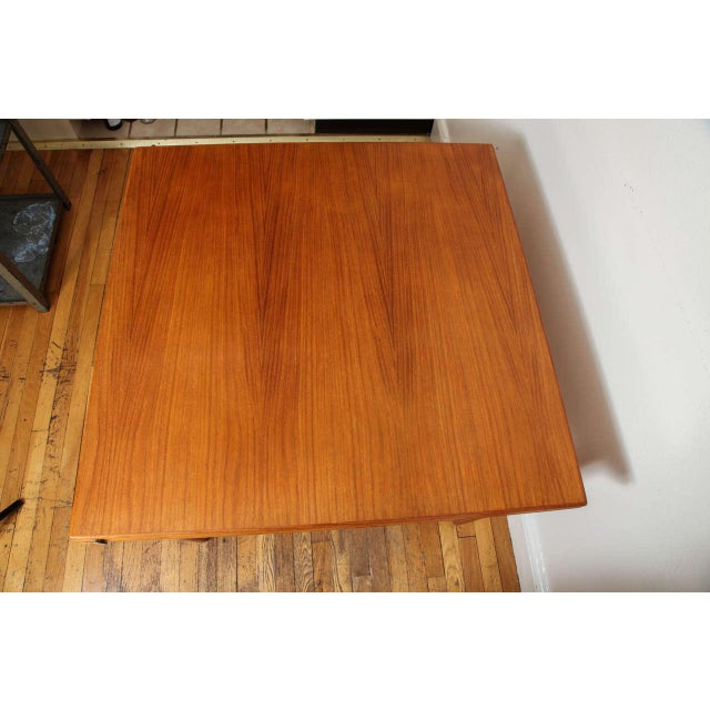 Danish Mid Century Sap Walnut Game Table For Sale In New York - Image 6 of 11