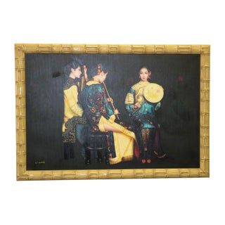 Chinese Musician Group Portrait Oil Painting