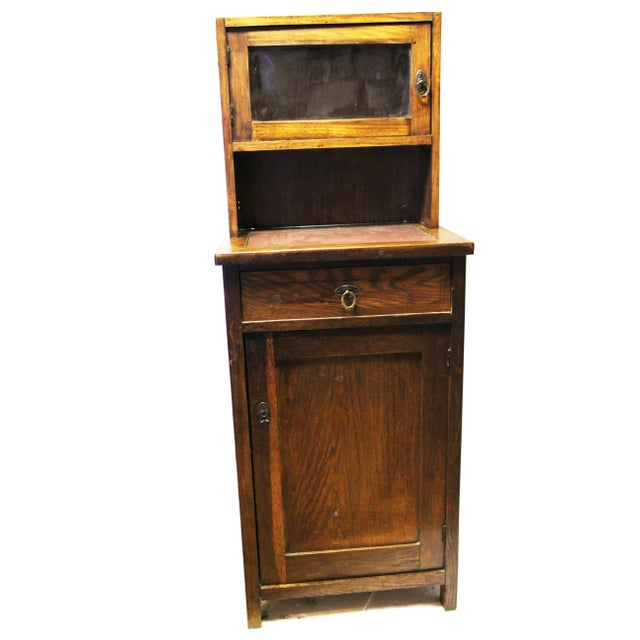Antique American Two-Part Step Back Cupboard With Hutch For Sale - Image 13 of 13