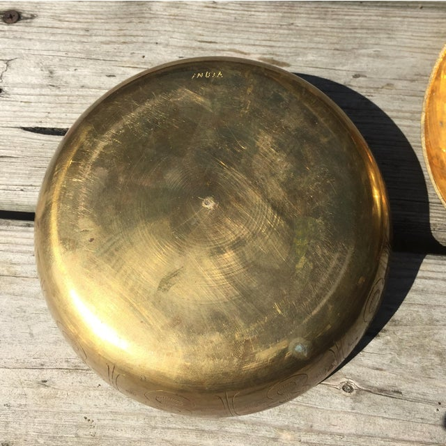 Gold Large Brass Lidded Duck Dish For Sale - Image 8 of 9