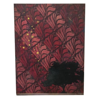 'Stars for the Trees' Contemporary Red Painting