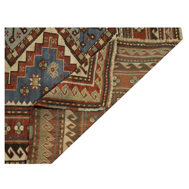 Antique Kazak Rug - 5 x 6.10 For Sale - Image 4 of 4