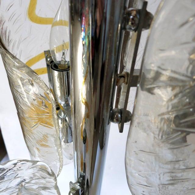 Italian Tubular Murano Glass Floor Lamp by Mazzega For Sale - Image 3 of 9