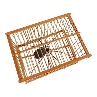 Vintage Cricket Cage with Spider Room Accent