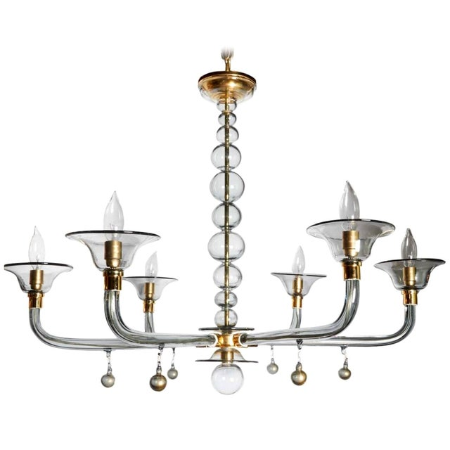 Venini Classically Styled Venini Chandelier For Sale - Image 4 of 4