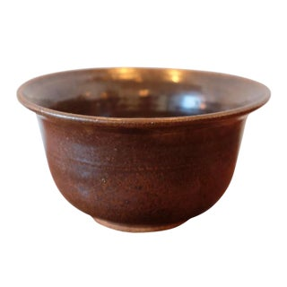 Signed Studio Pottery Stoneware Bowl For Sale