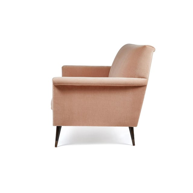 Contemporary Mid-Century Modern Italian Style Loveseat by Martin and Brockett For Sale - Image 3 of 8