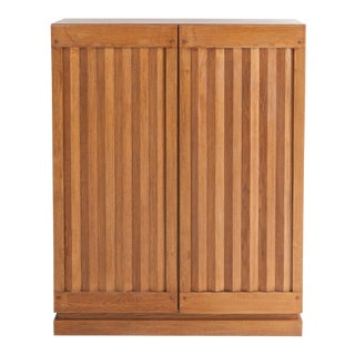 Minimalist Natural Oak Bar Cabinet For Sale