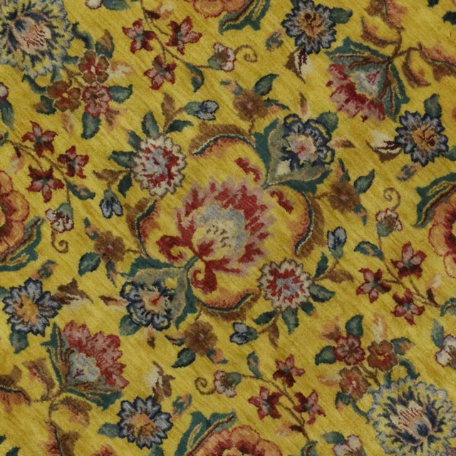 "Vintage Traditional Style Yellow Area Rug - 7'10"" x 9'9"" - Image 4 of 5"