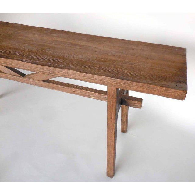 Custom console made from reclaimed wood. Can be made in any size and in a variety of finishes. As shown, in latte. Natural...