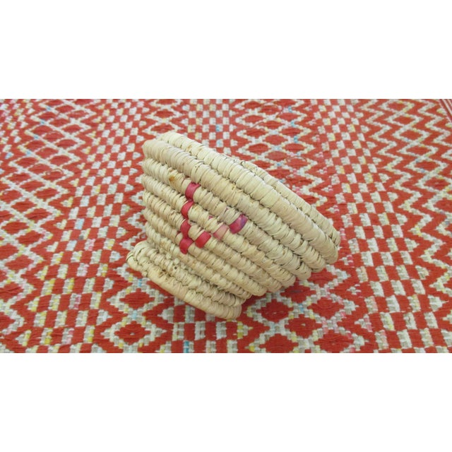 Moroccan Hand Woven Bread Basket Bowl - Image 4 of 9