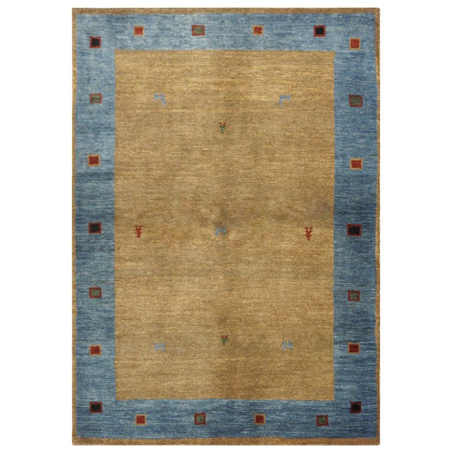Persian Gabbeh Rug - 4 x 5.10 For Sale