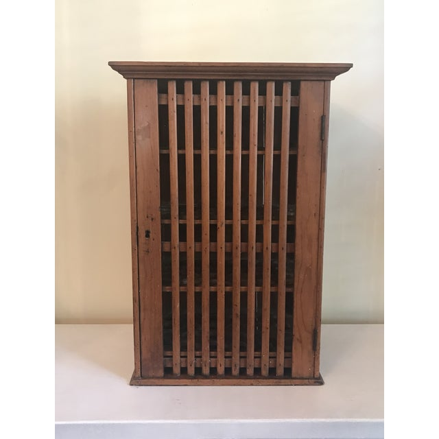 1930s French Walnut Egg Wall Cabinet For Sale - Image 12 of 12