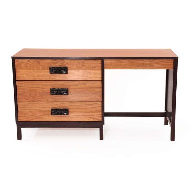Mid-Century Modern 1960s Dunbar Ashwood Desk For Sale - Image 3 of 8
