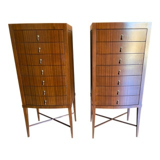Contemporary Custom Made Chests of Drawers - a Pair For Sale
