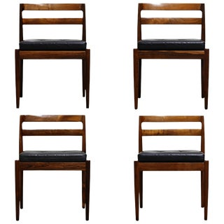 """Rosewood """"Universe"""" Chairs by Kai Kristiansen for Magnus Olesen, Signed Set of 4 For Sale"""
