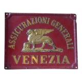 Image of Vintage Venetian Metal Sign For Sale