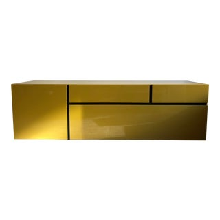 Yellow Lacquer Sideboard For Sale