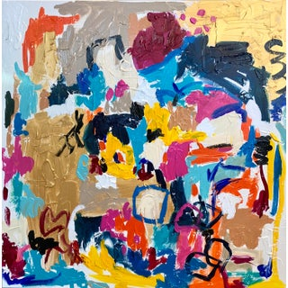 """""""Diana Ross"""" Contemporary Abstract Expressionist Colorful Painting by Ebony Boyd For Sale"""