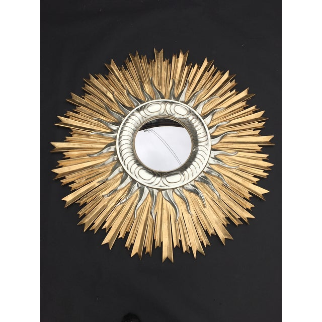 Italian Italian Hand Carved Sunburst Mirror For Sale - Image 3 of 7