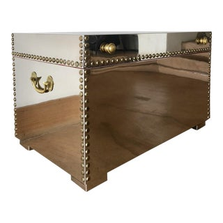 Chrome Clad Chest With Brass Studs