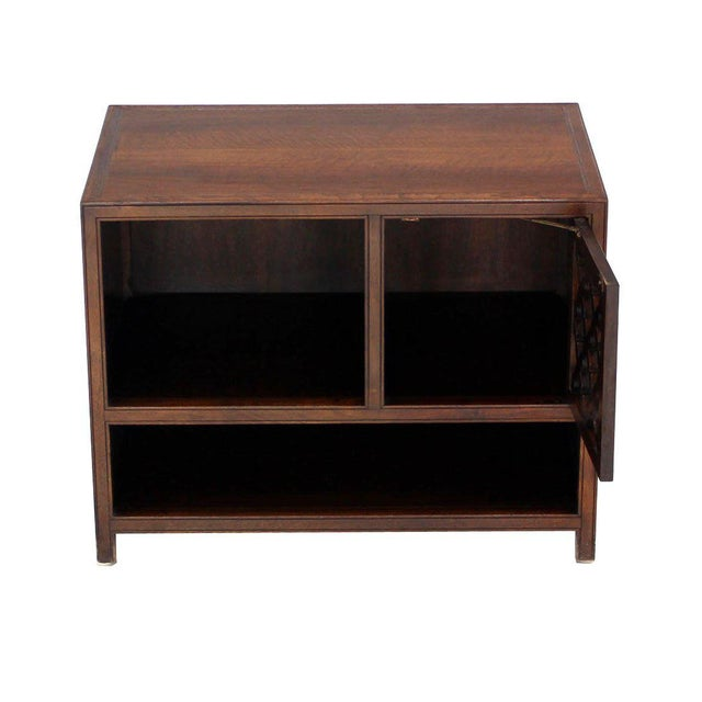 Baker Furniture Company Baker Walnut End Table Stand Accent Side Table. For Sale - Image 4 of 7