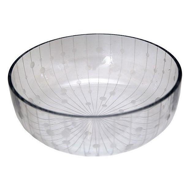 Modern Crystal Bowl - Image 1 of 2