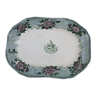 Antique Copeland Spode Crested Platter For Sale