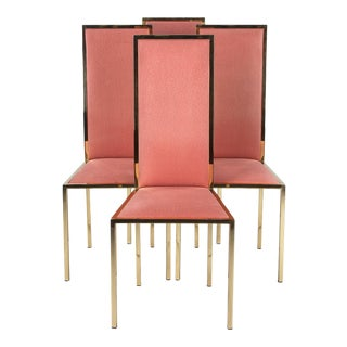 Mid-Century Italian Brass Chairs- Set of 4 For Sale