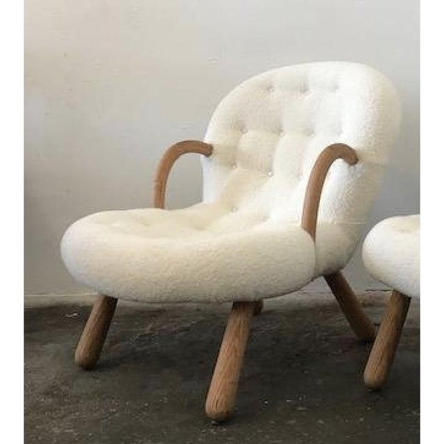 2010s Philip Arctander Attributed Clam Armchair For Sale - Image 5 of 5