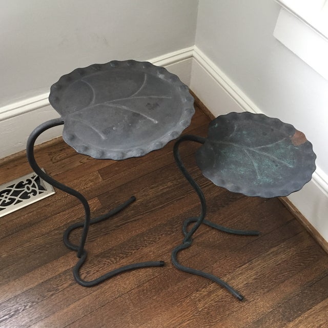 Salterini Lily Pad Nesting Tables - a Pair - Image 3 of 9