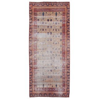 Khotan Shaby Chic Carpet - 7′ × 12′5″ For Sale