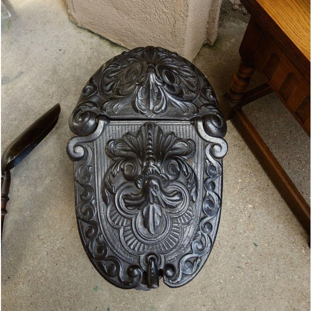 Victorian Antique French Gothic Victorian Cast Iron Fireplace Coal Hod For Sale - Image 3 of 11