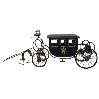 Model of a Royal Carriage / Framed Chinese Silk Embroidery For Sale